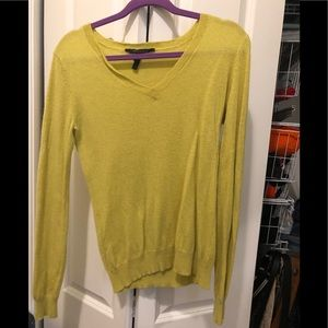 Chartreuse sweater.